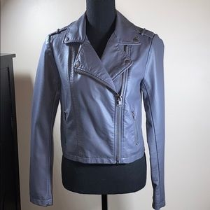 Forever 21 Gray Faux Leather Jacket